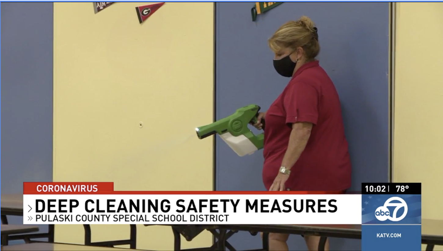 KATV: PCSSD breaks down deep cleaning measures to prevent spread of COVID-19