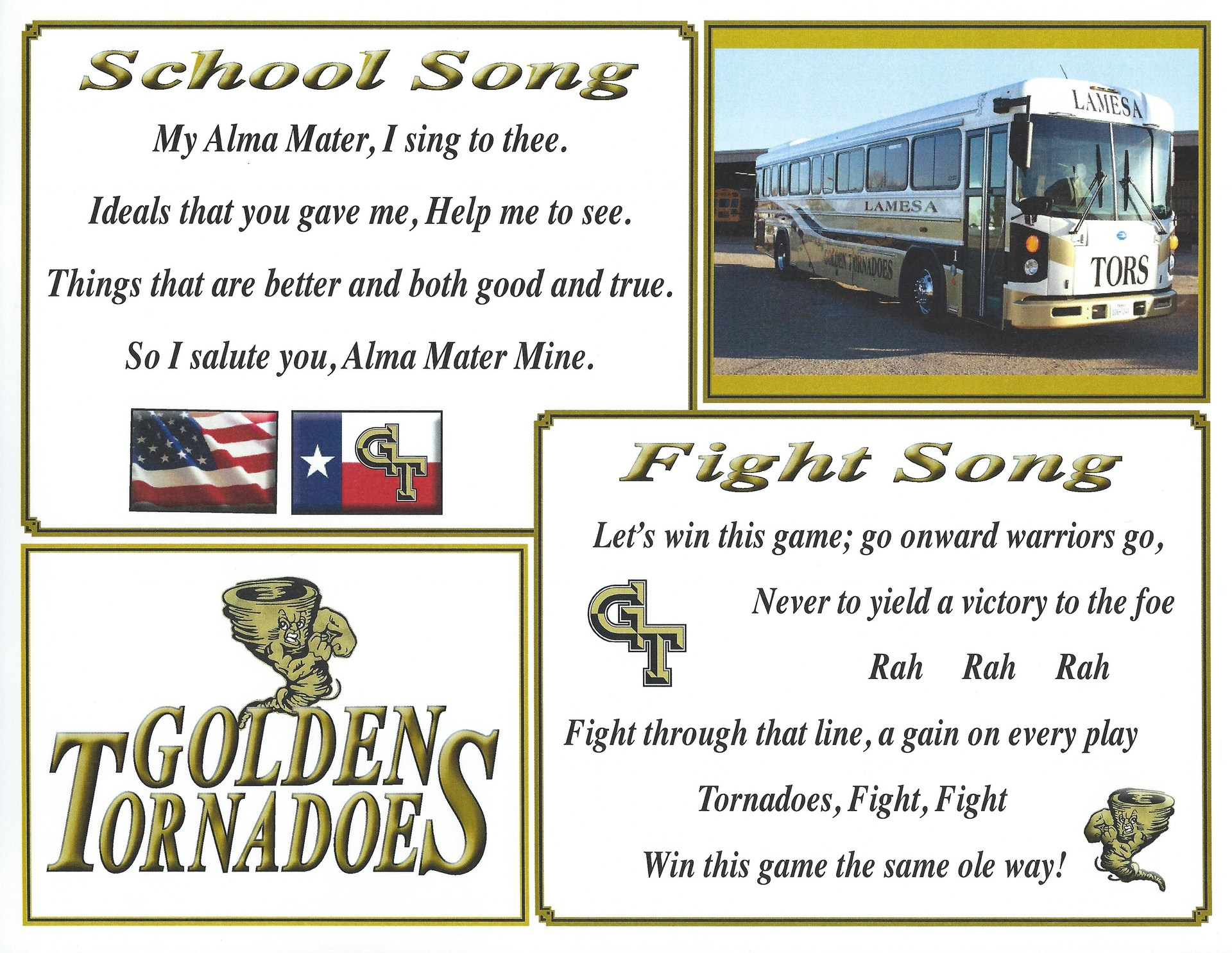 SCHOOL SONG AND FIGHT SONG