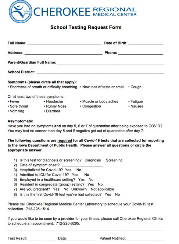 COVID Testing Form