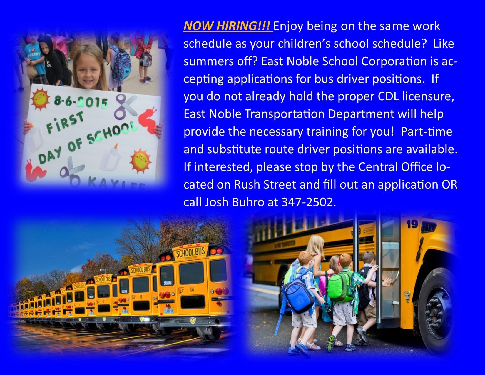 Now Hiring Bus Drivers!
