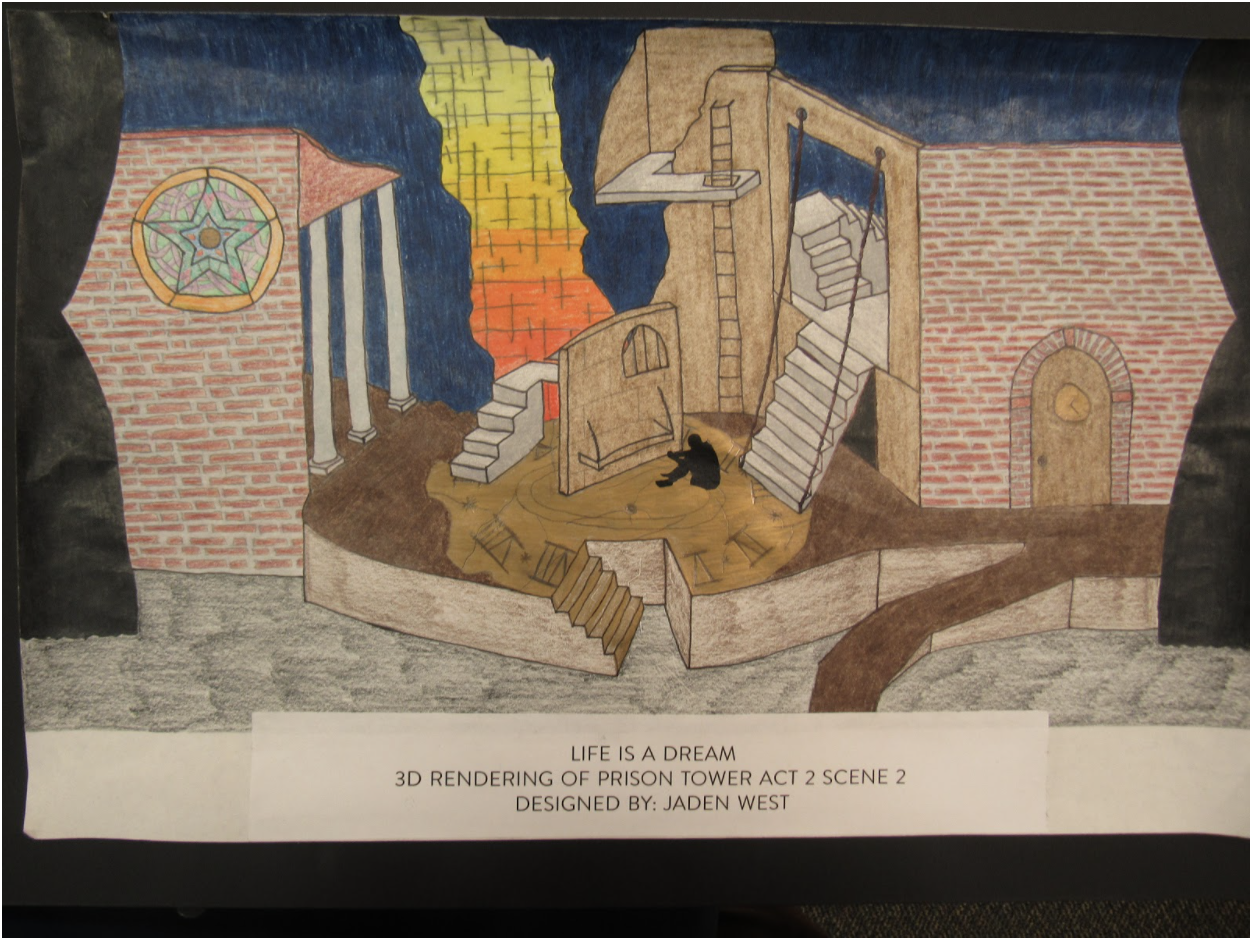 2nd place State Theatrical Design contest (Set Design Category) 2020
