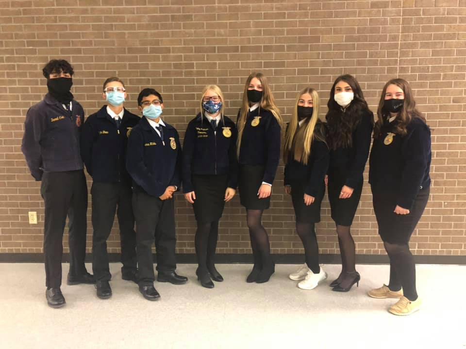 FFA Students after competition