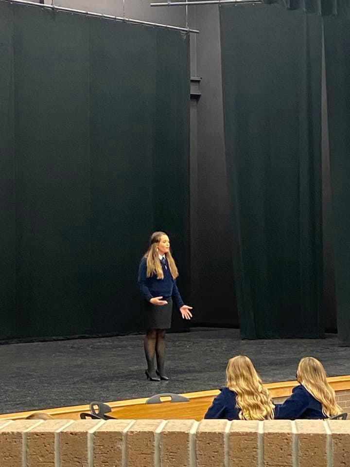 FFA student speaking