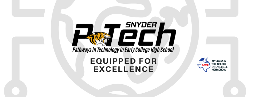 Logo for P-Tech (Equipped for excellence)