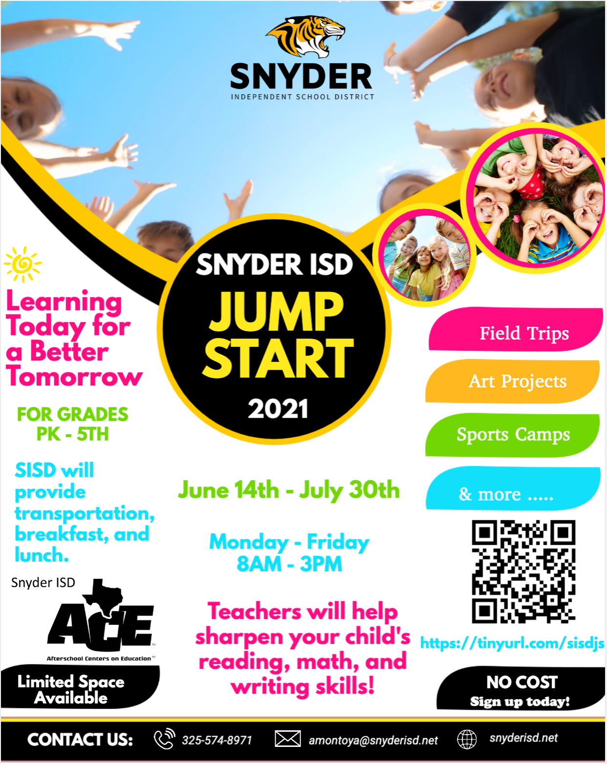 Jump Start Program Flyer - Information outlined in text on this page