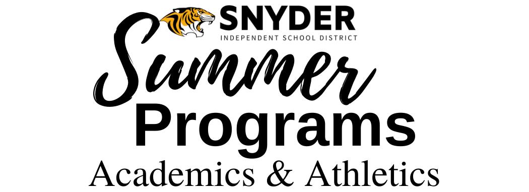 SISD Summer Programs Athletics and Academics Header image