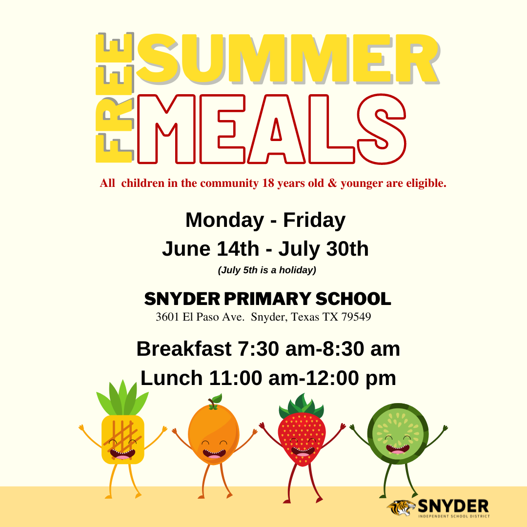 FREE SUMMER MEALS GRAPHIC  all text in this image is in the section above