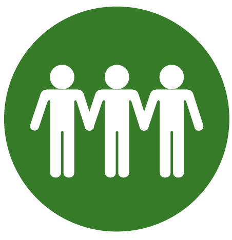 3 people holding hands