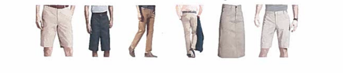 Shorts/Pants/Skirts you can use
