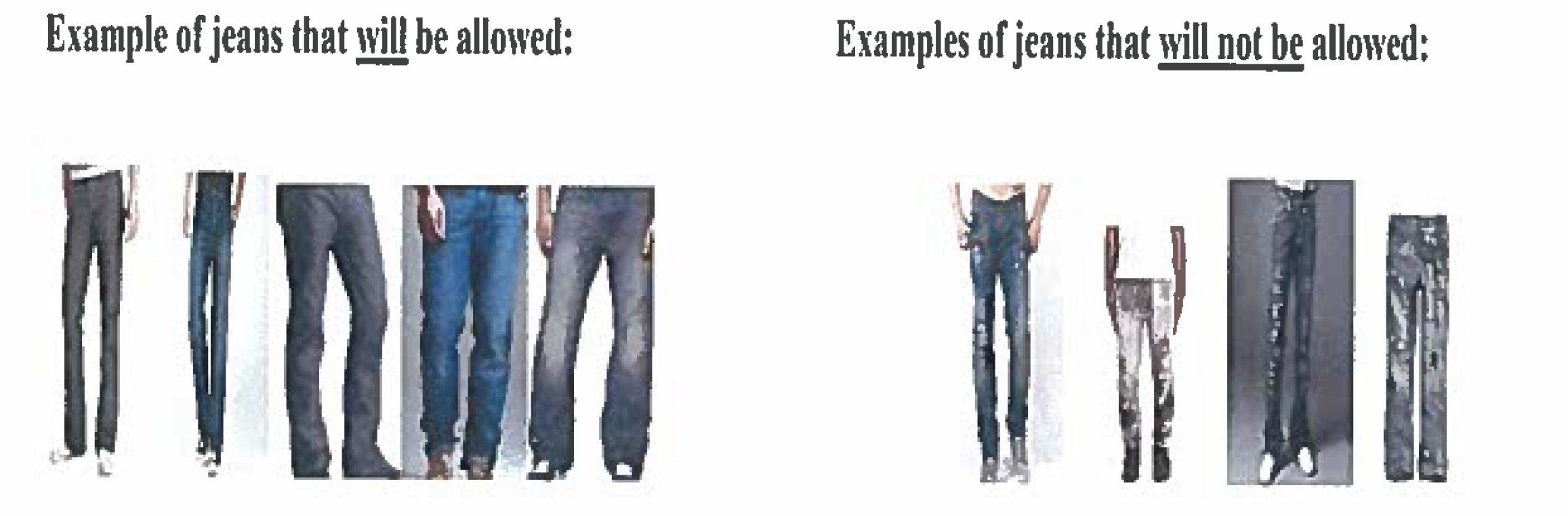 Jeans you can use