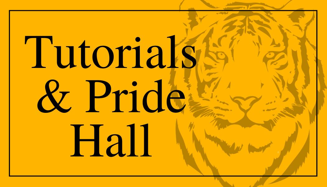 Tutorials and Pride Hall
