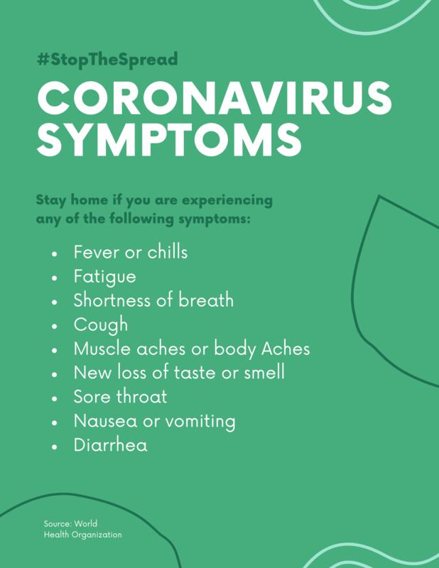 Coronavirus Symptoms Flyer