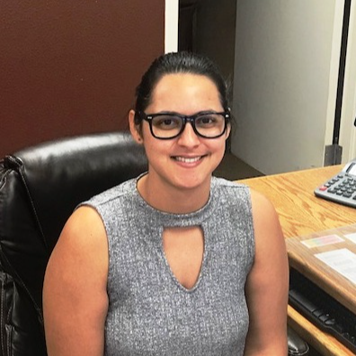 a photo of district and governing board secretary, Stacy Fernandez