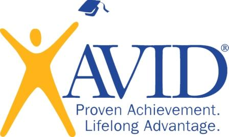 a photo of AVID proven achievement, lifelong advantage logo
