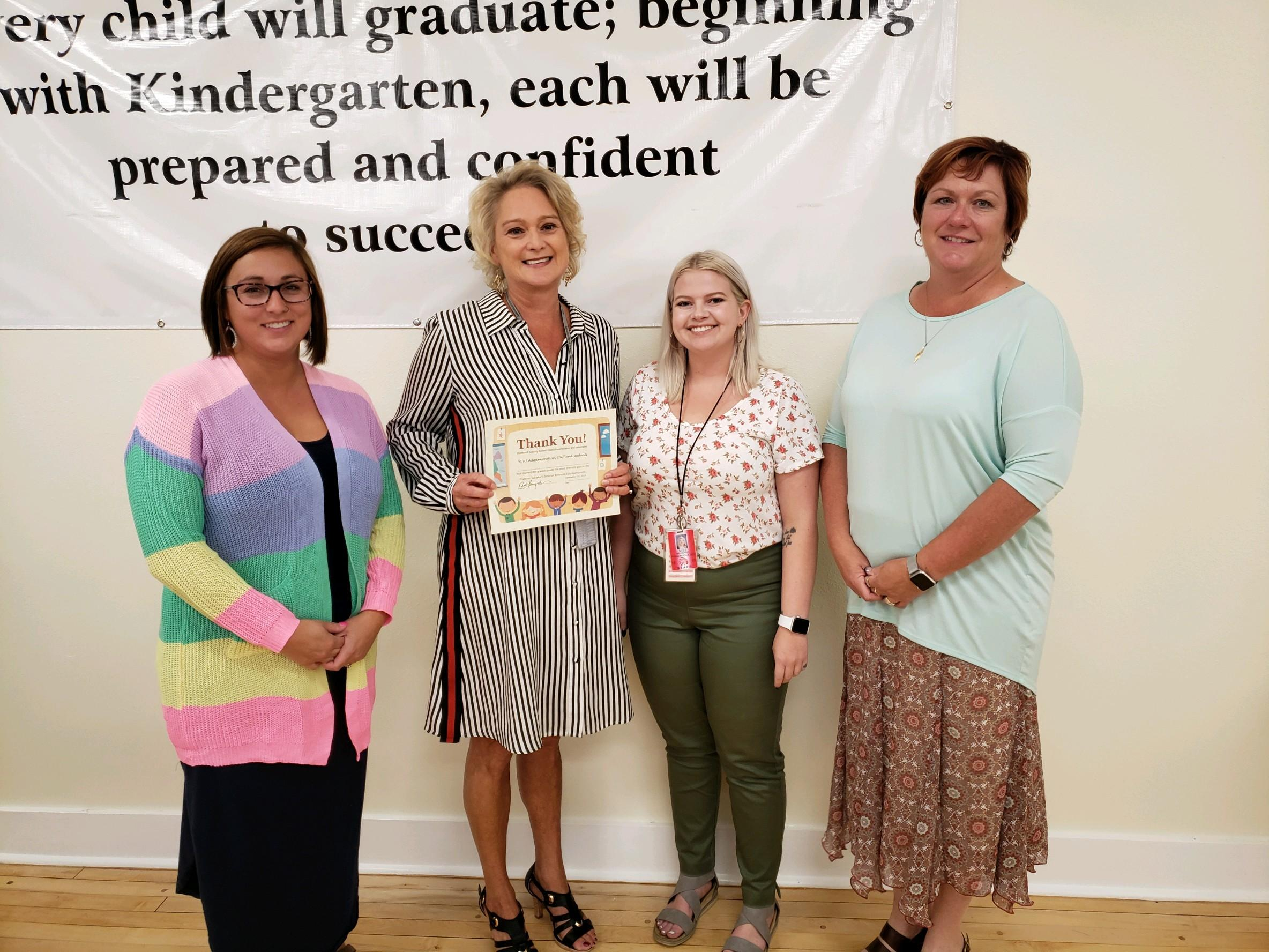 District celebrates WJHS Staff and Administrators for Score Gains