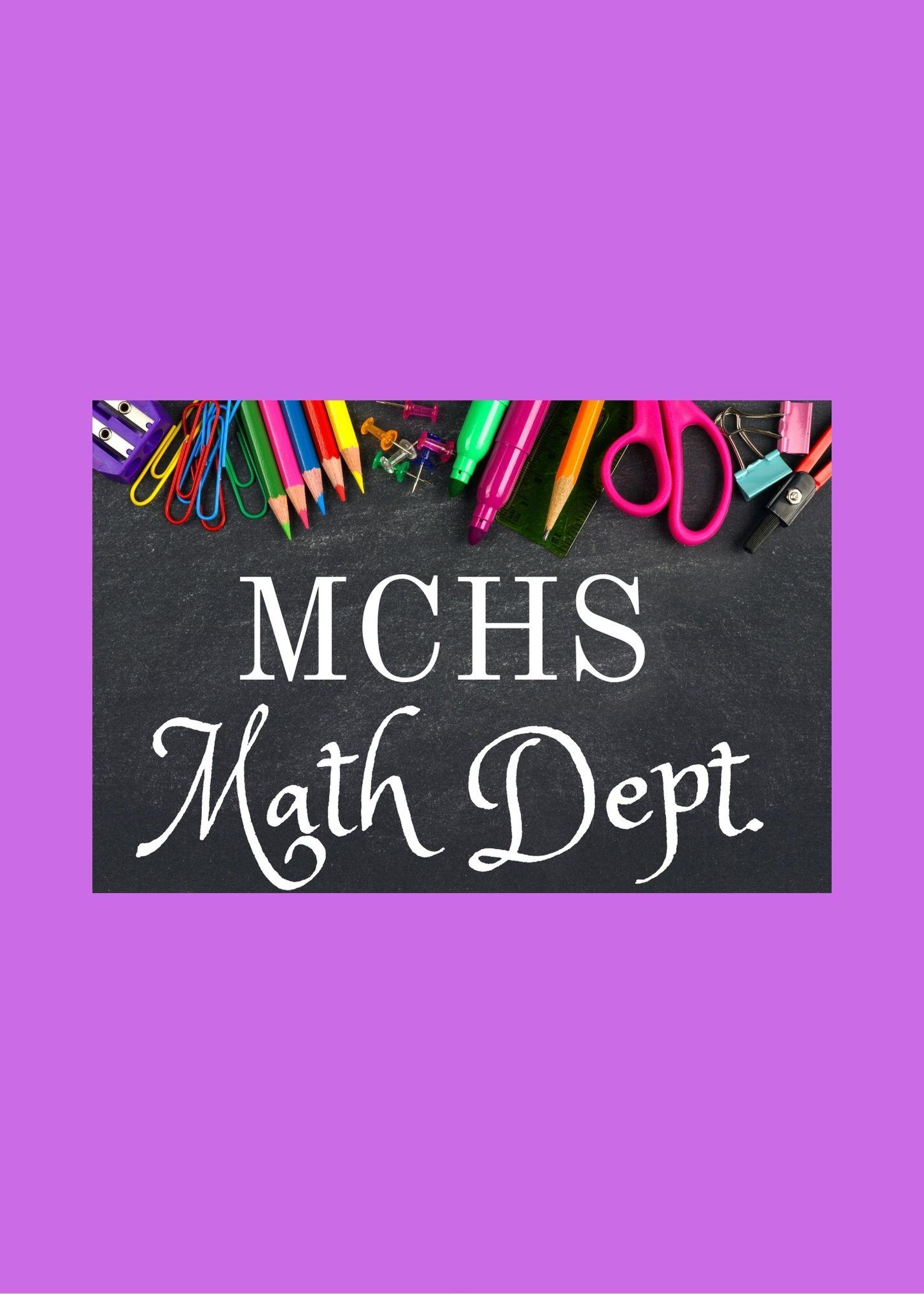 MCHS Math Dept supply list