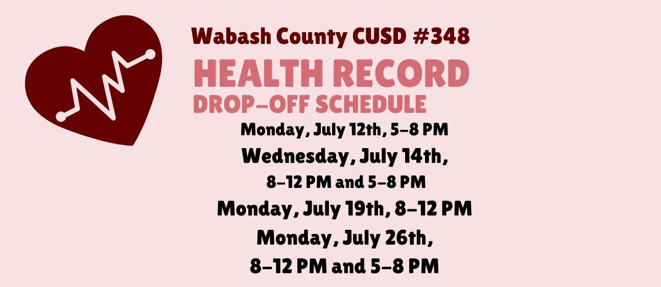health record drop off schedule