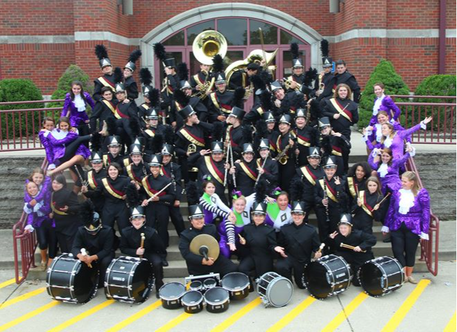 Photo of the MARCHING ACES band.