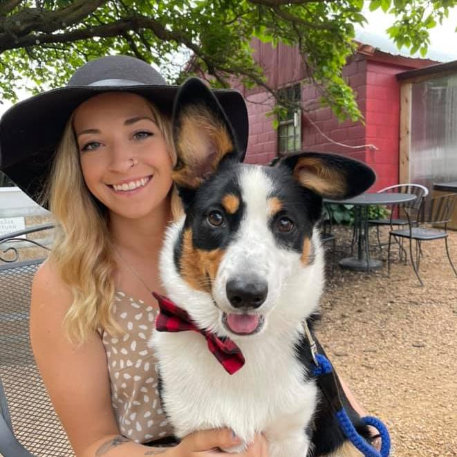 Halea Picha with dog