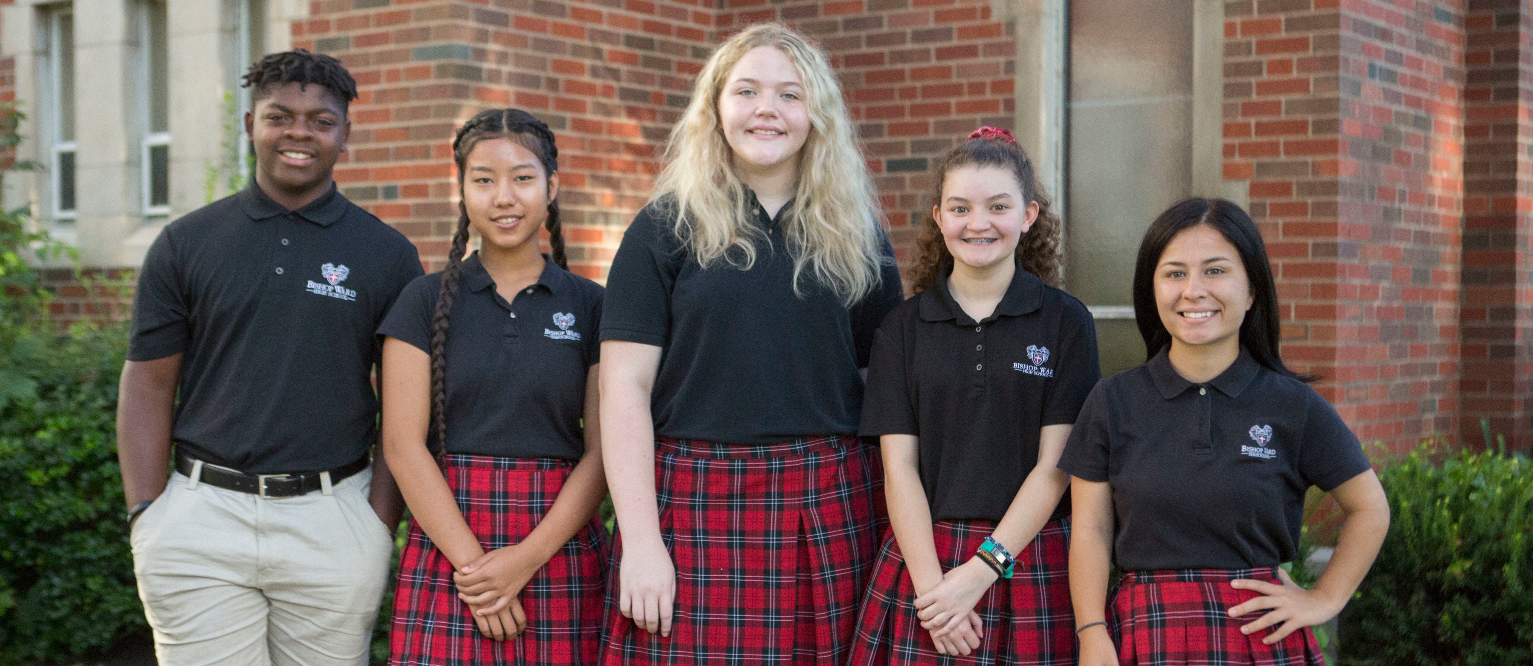 Bishop Ward Catholic High School educates each individual body, mind and soul in Christ, enabling students from a diverse family community to be servant-leaders in right relation with God, self and others.