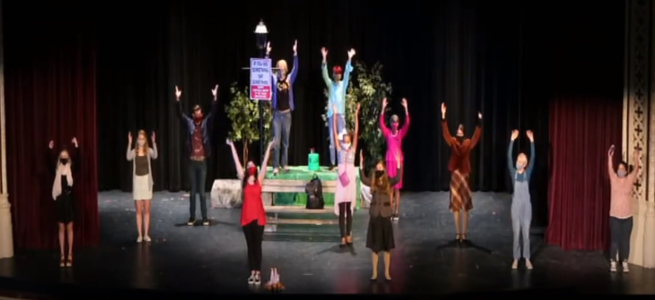Photo of high school students on stage for performance