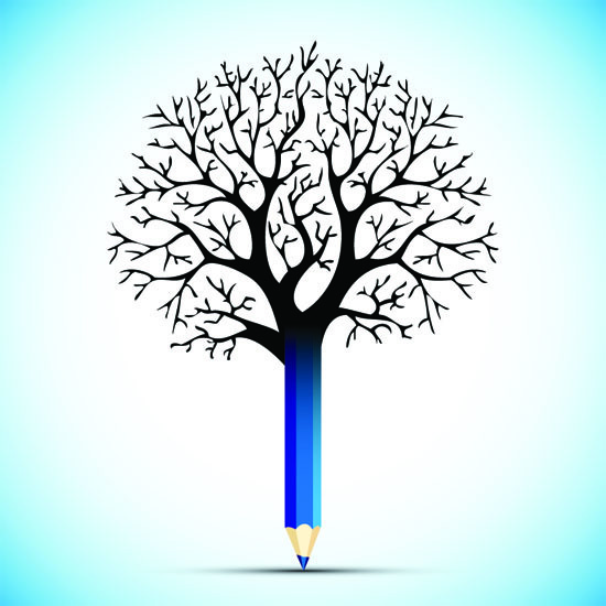 PENCIL/TREE GRAPHIC