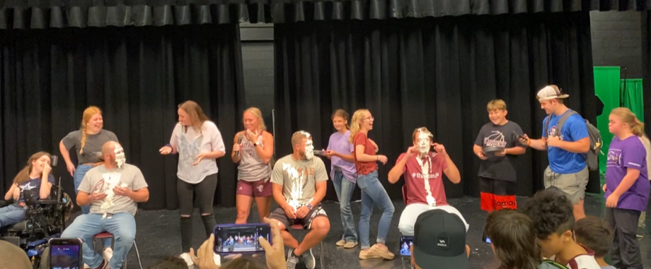 Pie in the face fundraiser