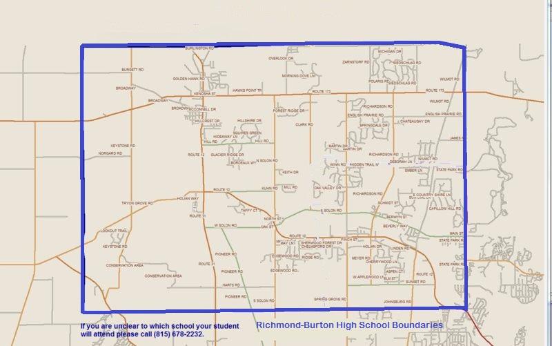 Boundary map for Richmond-Burton Community High School