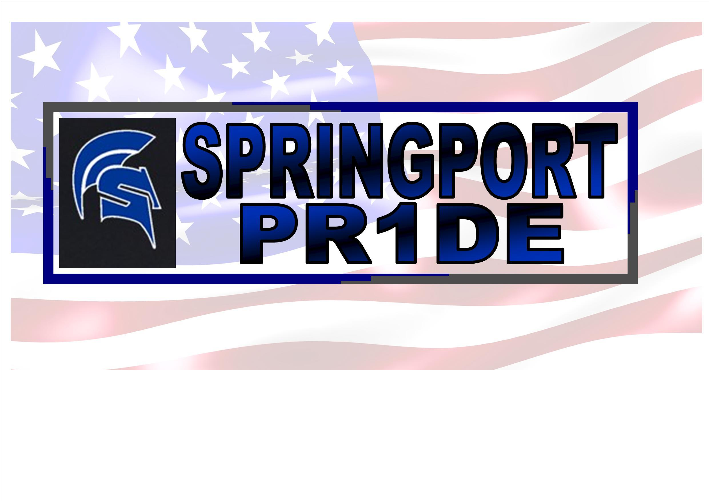 Logo with American Flag Background