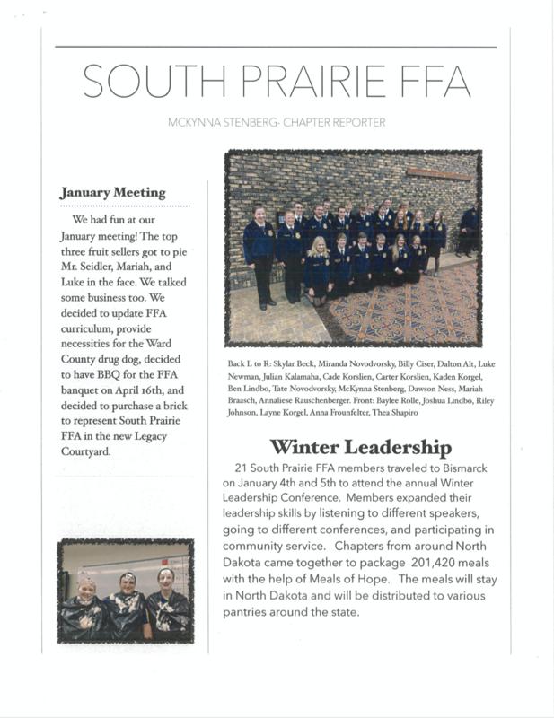 South Prairie FFA