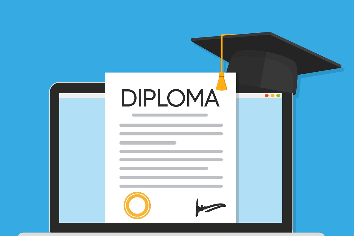 Diploma Graphic Vector