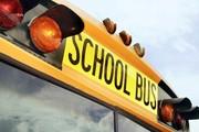 A photo of the School Bus headlights