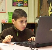 A student working on their computer