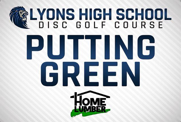 Lyons High School Putting Green
