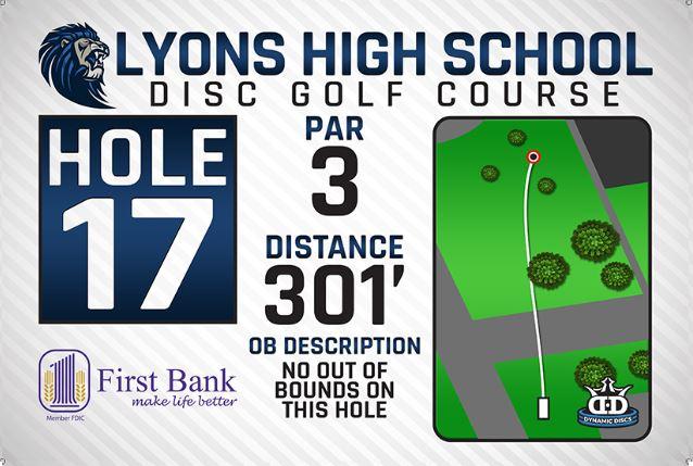 Lyons High School DISC Golf Course Hole 17