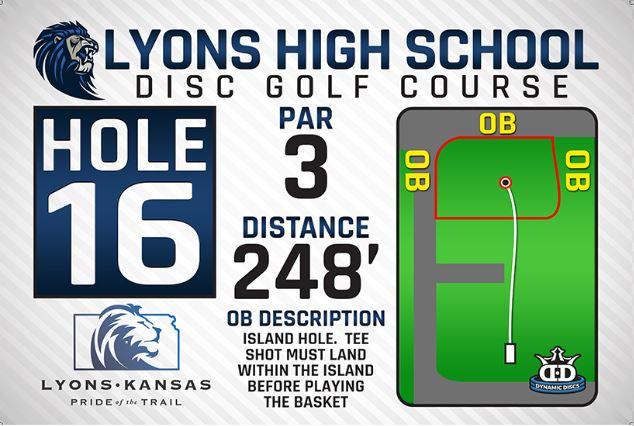 Lyons High School DISC Golf Course Hole 16