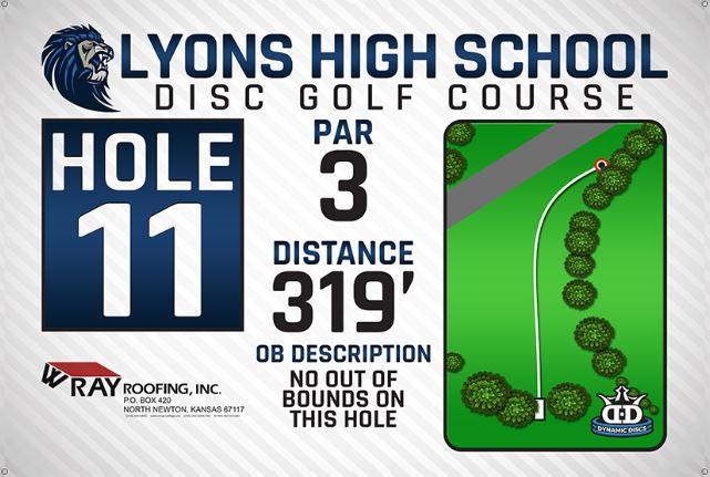 Lyons High School DISC Golf Course Hole 11