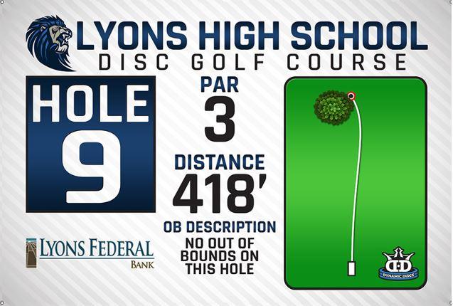Lyons High School DISC Golf Course Hole 9
