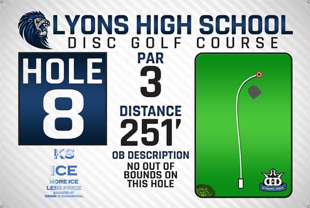 Lyons High School DISC Golf Course Hole 8