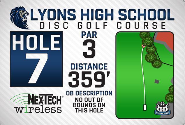 Lyons High School DISC Golf Course Hole 7