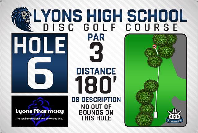 Lyons High School DISC Golf Course Hole 6