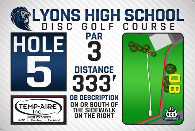 Lyons High School DISC Golf Course Hole 5