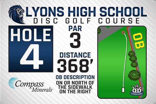 Lyons High School DISC Golf Course Hole 4