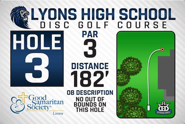 Lyons High School DISC Golf Course Hole 3