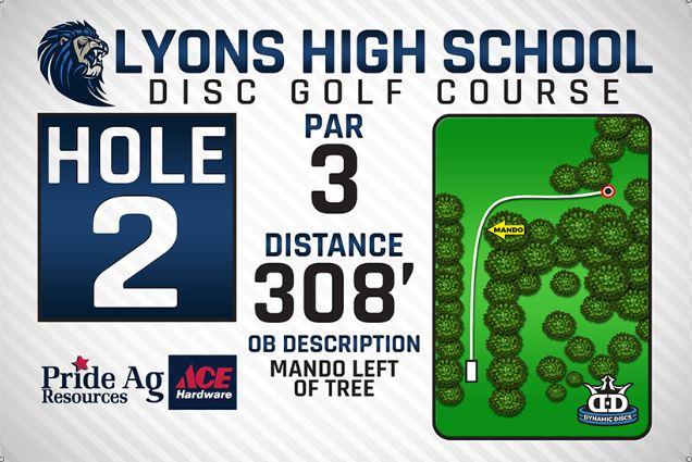 Lyons High School DISC Golf Course Hole 2