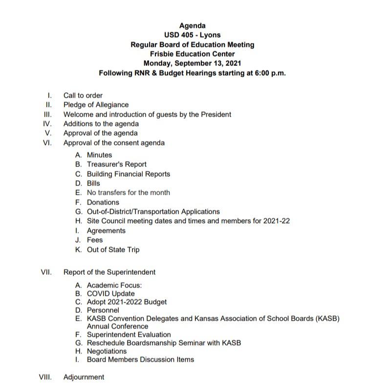 BOE March 8 Agenda