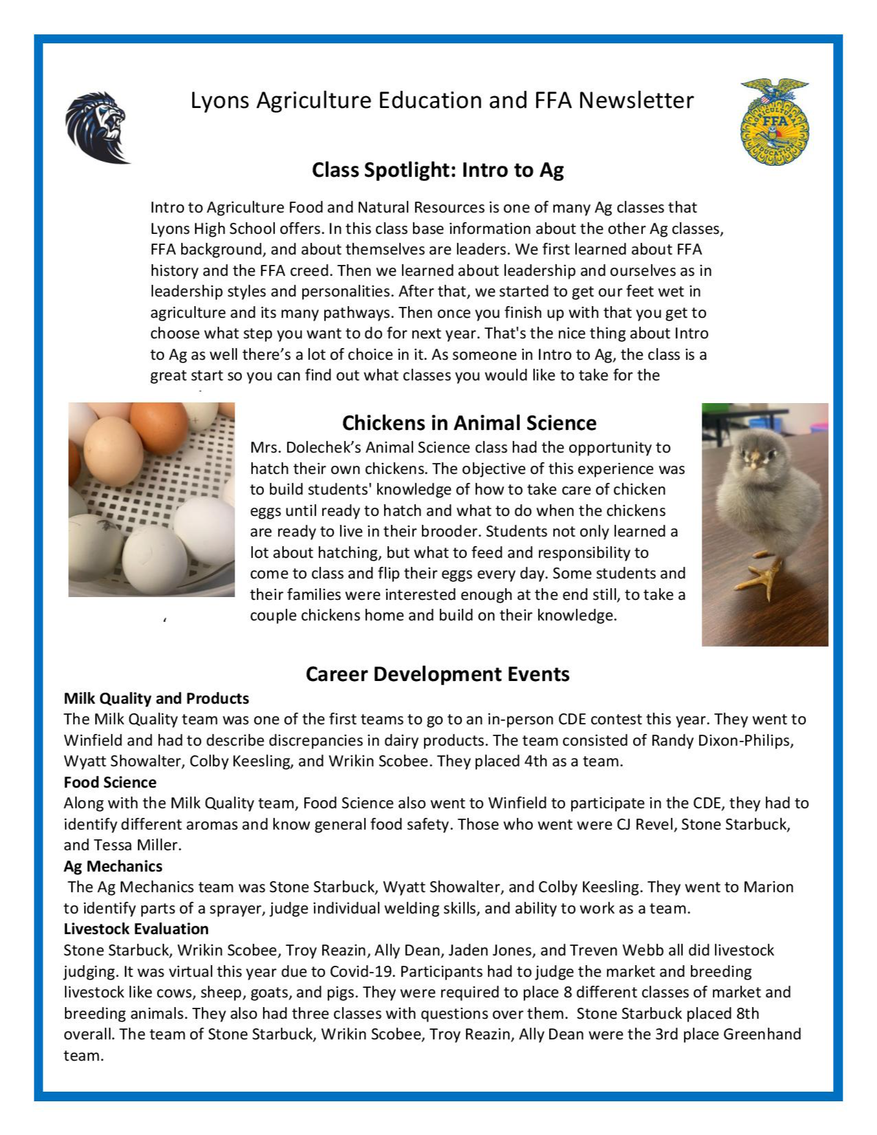 October Newsletter Page 2