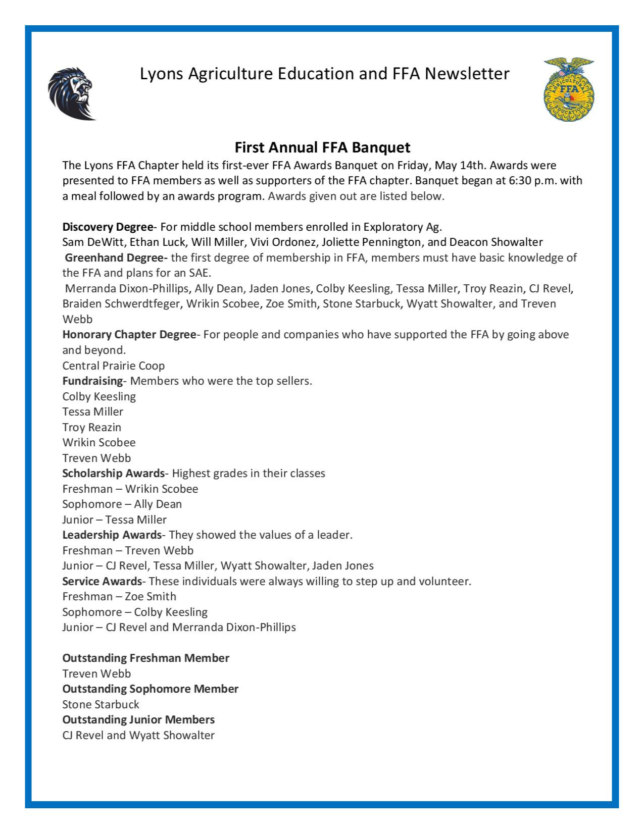 October Newsletter Page 3
