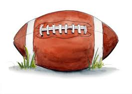 A drawing of an American Football ball