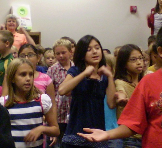 Our Character Rap, complete with actions, is sung at all Character Education assemblies.